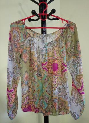"""Sale! 🔥 скидка -50%🔥 блуза с принтом бута """"восточные огурцы"""""""