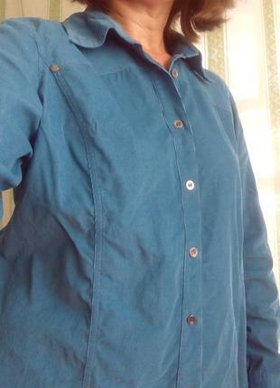 Шикарная брендовая рубашка, микровельвет, стильная   рубашка+подарок