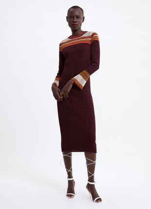 Zara платье в рубчик, s, m, l