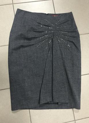 Юбка миди демисезонная стильная модная max mara размер l