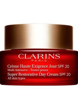 Восстанавливающий дневной крем clarins super restorative day cream spf20