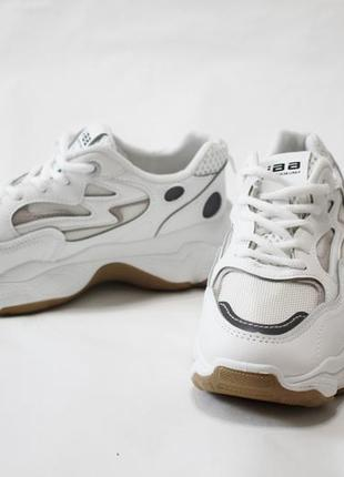Женские белые кроссовки (кеды, крипперы) на толстой подошве 5см.3 фото