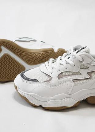 Женские белые кроссовки (кеды, крипперы) на толстой подошве 5см.4 фото