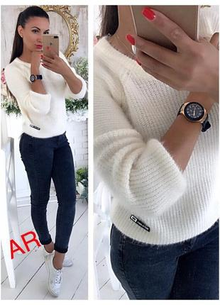 Теплый свитер объемной вязки р 42-46