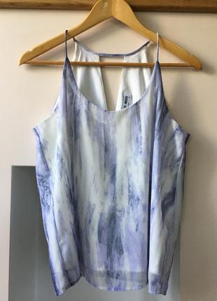 Сиреневая майка-разлетайка vero moda шифоновая с подкладкой, размер s