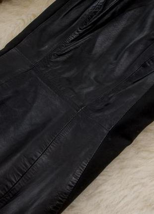 Шикарное кожаное  платье  от h&m рр 10 наш 445 фото