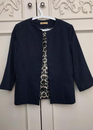 Любимый классический пиджак темно-синий xl