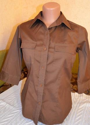 Клевая коричневая рубаха от h&m