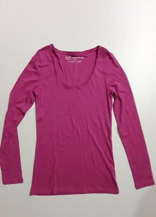 Фирменный реглан лонгслив блуза l