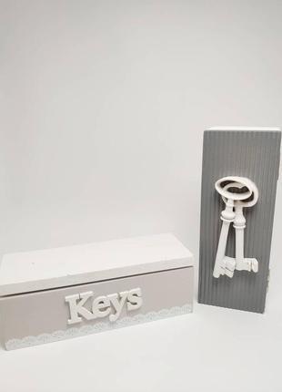 Скринька дерев'яна для ключів keys