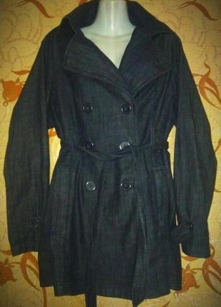 Фирменный качественный джинсовый пиджак 58-60р