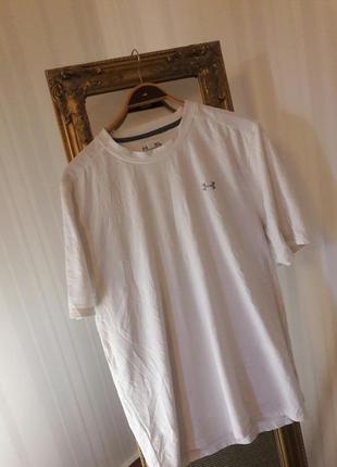 Белая эластичная футболка # under armour #оригинал