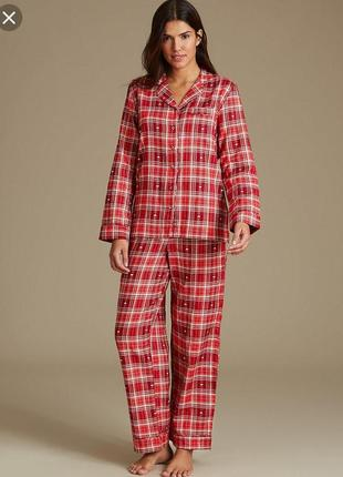 Пижама ❤️ в клетку принт сердечки marks&spencer