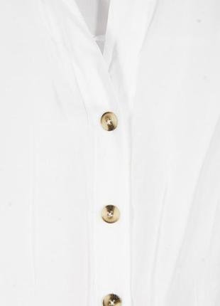 Белая рубашка свободная, женская классическая рубашка с длинным рукавом3 фото