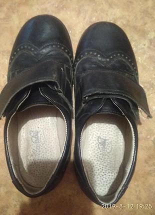 Туфли чёрные оксфорд кожаные 31р