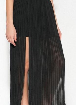 Шиарная плиссерованная юбка макси
