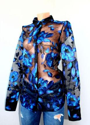 Блузка органза с вышивкой y-a-s р. s