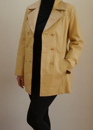 Куртка кожаная натуральная плащ размер m-l