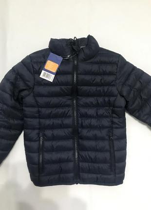 Темно-синяя демисезонная куртка для мальчика