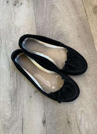 Балетки, туфли, лоферы с бахромой, замш, замшевые натуральные