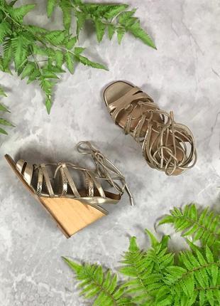 Кожанные босоножки со шнуровкой  sh1932082 next