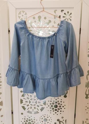 Джинсовая блузка guess. новая