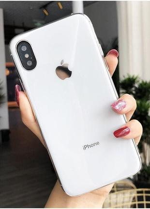 Скляний чохол glass case white для iphone