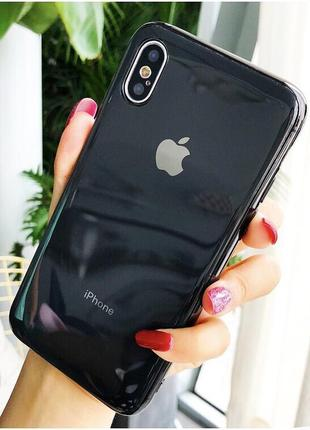 Скляний чохол glass case black для iphone