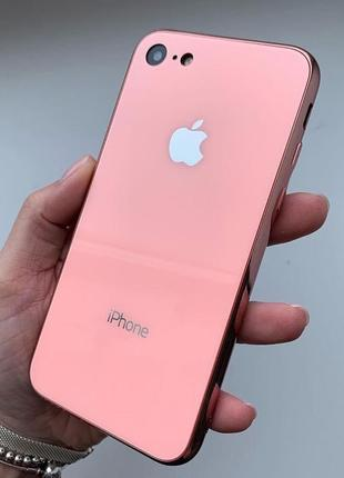 Скляний чохол glass case pink для iphone