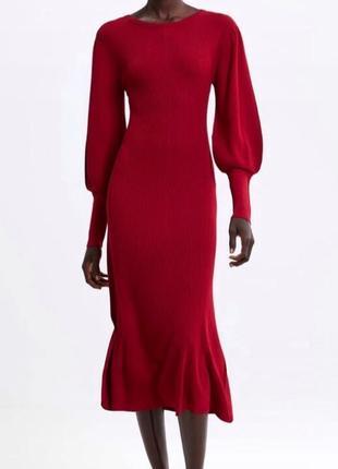 Zara платье с пышными рукавами , s/m/l