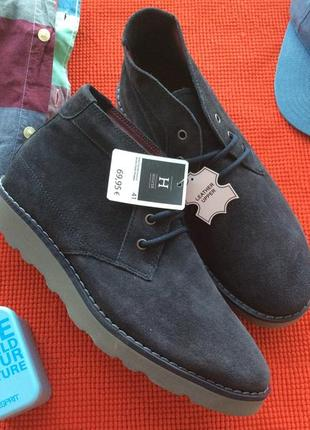 Завышенные туфли ботинки полностью из натуральной кожи, финляндия
