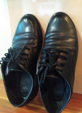 Кожаные мягкие туфли- ботиночки