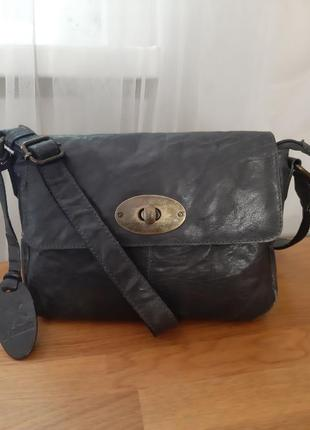 Fenland leather  кожаная сумка кроссбоди