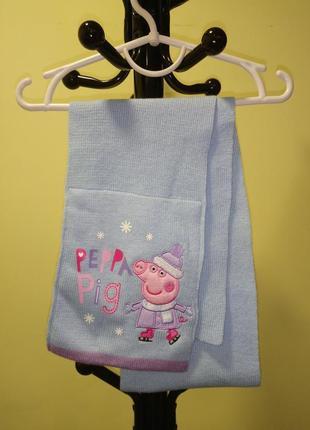 Голубой шарф для девочки peppa pig george