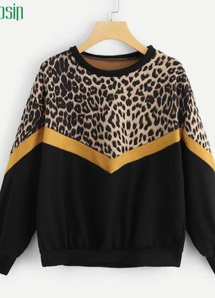 Трендовый свитшот леопардовый прини