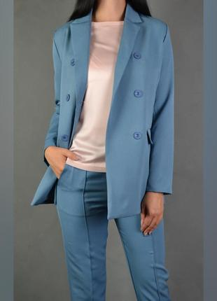 Костюм брючный удлиненный пиджак  брюки классика2 фото