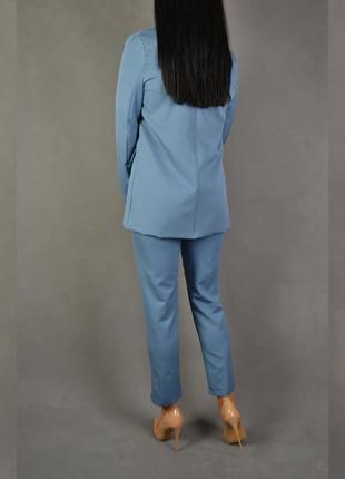Костюм брючный удлиненный пиджак  брюки классика6 фото