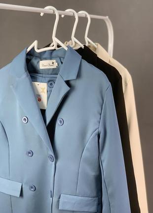 Костюм брючный удлиненный пиджак  брюки классика7 фото