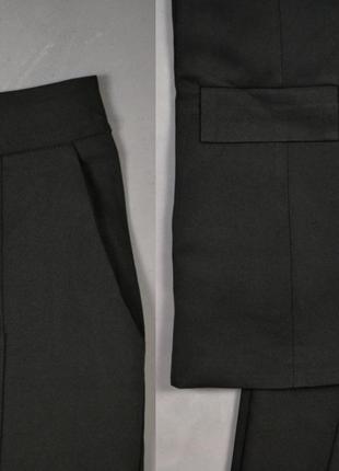 Костюм брючный удлинённый пиджак  брюки7 фото