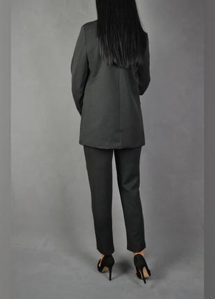 Костюм брючный удлинённый пиджак  брюки4 фото
