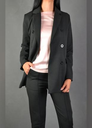 Костюм брючный удлинённый пиджак  брюки2 фото