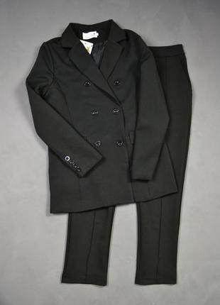 Костюм брючный удлинённый пиджак  брюки6 фото