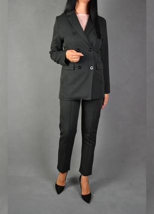 Костюм брючный удлинённый пиджак  брюки3 фото