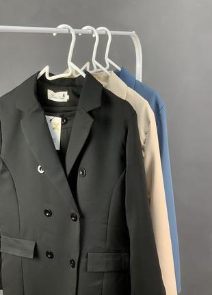 Костюм брючный удлинённый пиджак  брюки5 фото