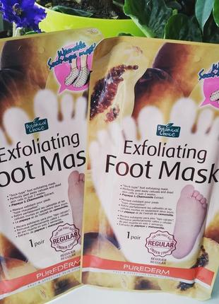 Purederm exfoliating foot mask regular носочки для пилинга ног