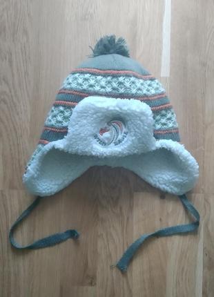 Зимова шапулька для хлопчика 2-4рочки, виробництво туреччина