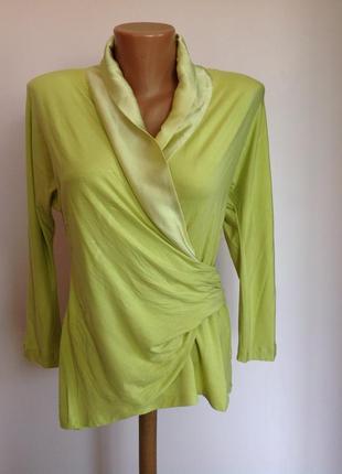 Бомбезная брендовая итальянская блуза с декором из шёлка. /l/ brend anna rachele