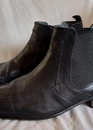 Мужские кожаные ботики челси