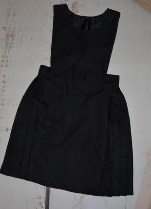Школьный сарафан юбка плиссе на запах на 9-10 лет