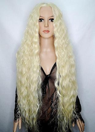 Парик на сетке блонд длинный